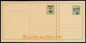 192131 - 1938 RUMBURG/  CDV65 s přetiskem WIR SIND FREI a HK; navíc t