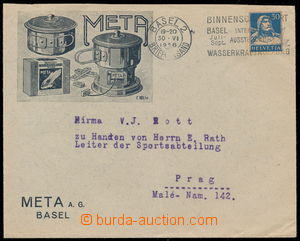 192230 - 1926 advertising envelope f. META A.G., with Mi.169, slogan