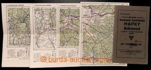 192269 - 1914 KAPESNÍ TURISTICKÉ MAPKY KRKONOŠ I-IV/ sestava 4 turist