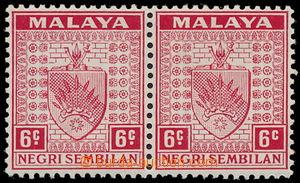 192338 - 1935 SG.27, 27a, vodorovná 2-páska Znak 6C červená, vpravo c