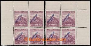 192385 - 1939 Sy.13, Mukačevo 1,20Kč, dva 4-bloky s širokým horním ok