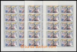 192405 - 1993 Zber.PL65 VV, Europa, 2ks, 1x úplný nedotisk červené ba