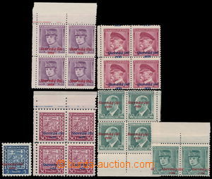 192410 - 1939 Sy.2, 6, 8, 10, 12, sestava 4-bloků: 30h s vodorovným p