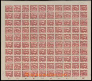 192423 -  Pof.5, 10h červená, kompletní nepřeložený 100ks arch, TD 3,