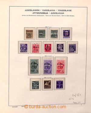192440 - 1945-1954 ISTRIA + TERST / ZONE B  značně kompletní sbírka n