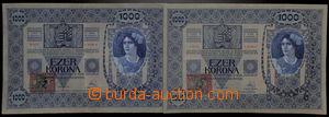 192704 - 1902 Ba.6, sestava 2ks bankovek 1000K, 2.1.1902, tištěný kol