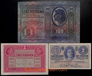 192712 - 1912-1917 Ba.RU10, RU3, RU2, sestava 3ks rakouských předběžn