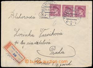 192731 - 1939 1. den Slovenského štátu / R-dopis vyfr. vodorovnou 3-p