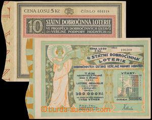 192734 - 1922-1928 ČSR  sestava 2ks losů 4. a 10. Státní dobročinné l