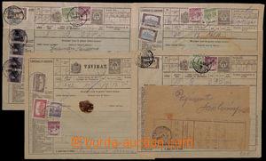192890 - 1920 Mi.TB20, sestava 4 ks celinových blanketů na telegram,