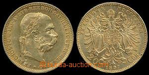 192920 - 1897 RAKOUSKO - UHERSKO / FRANTIŠEK JOSEF II.  20 Korun 189