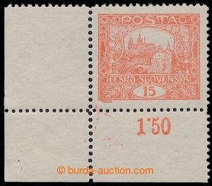 192968 / 960 - Filatelie / ČSR I. / Hradčany 1918 - zoubkované
