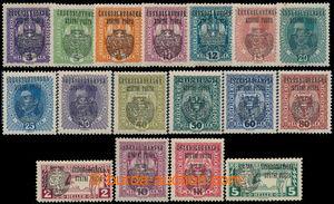 193024 - 1918 Pof.RV22-36, RV41-42, Prague overprint II (large Coat o