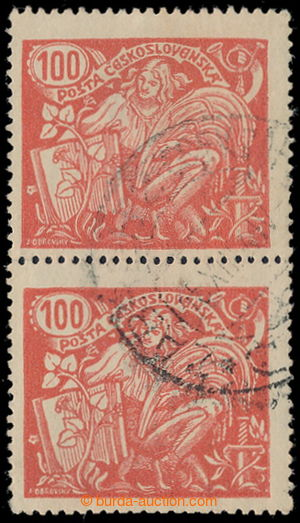 193029 -  Pof.173B ST, 100h red, vertical pair with joined types II.