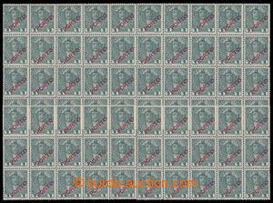 193033 - 1918 DOPLATNÍ  Mi.P58, 1h šedá, 50-blok a 2x 15-blok, celkem