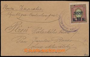 193115 - 1920 RUSSIA/ envelope sent from Vladivostok to Plzen, franke