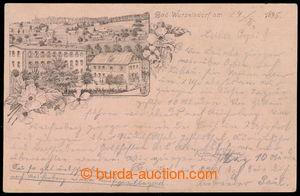 193226 - 1895 KOŘENOV  (Bad Wurzelsdorf), předchůdce pohlednic, jedno