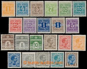 193364 - 1921 Mi.118-128, Číslice a Christian X. 5ö - 1Kr, kompletní