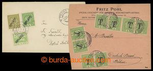 193723 - 1919 VÝPLATNÍ / MALÝ FORMÁT  sestava 2ks nevyplacených dopis