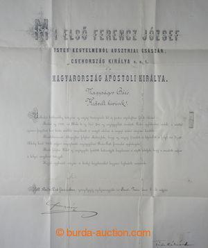 193787 - 1881 FRANTIŠEK JOSEF I. (1830-1916), rakouský císař, če