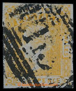 193855 - 1853 SG.81, Viktorie 8P oranžově žlutá; bezvadný kus, zk. Fe