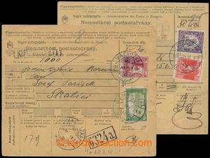 193873 - 1919 VÁLEČNÉ /  sestava 2ks větších dílů uherských poštovníc