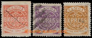 193891 - 1879-1880 SG.11, 12, 20; litografické vydání EXPRESS (S.T. L