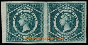 193920 - 1882 SG.233e, krajová 2-páska Viktorie 5P modrozelená, Perki