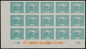 193973 -  Pof.4STs, 5h modrozelená, levý dolní rohový 15-blok s počít