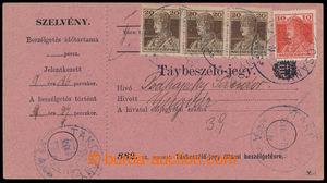 193976 - 1918 uherský formulář Távbeszélö - jegy / Telefonní stvrzenk