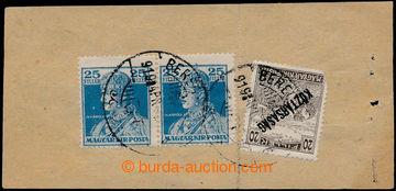 193987 - 1919 BEREHOVO / uherský formulář Távbeszélö - jegy / T