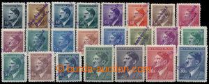194190 - 1945 PLZEŇ  šikmý 2-řádkový přetisk ČESKOSLOVENSKÁ/ REPUBLIK