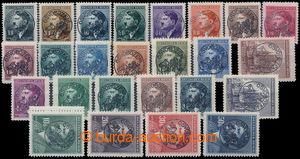 194192 - 1945 FRÝDEK  1-kruhový černý přetisk OSVOBOZENÍ + STÁTNÍ ZNA