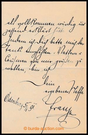194323 - 1891 FRANTIŠEK FERDINAND d´ESTE (1863-1914), následník r