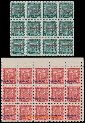 194432 - 1939 Sy.4, Znak 20h, rohový 15-blok s posunem přetisku dolev