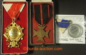 194549 - 1892-1893 sestava 3ks pamětních medailí - Veslařský klub Ohř