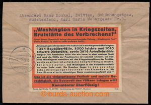 194625 - 1943 German war propaganda against USA, philatelically influ