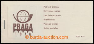 194635 - 1978 ZS12, PRAGA 1978, stamp booklets 9Kčs brown; partially