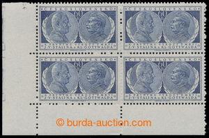 194643 - 1954 Pof.773 DO, Gottwald a Stalin, levý dolní rohový 4-blok
