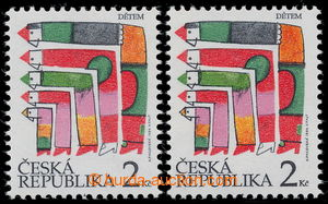 194725 - 1994 Pof.41a, Children's Day 2CZK, bright red, 2 pcs of, fro