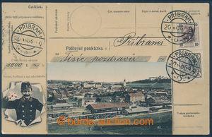 194731 - 1906 PŘÍBRAM - poštovní poukázka, koláž, barevná, prošlá; za