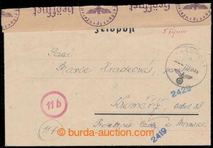 194737 - 1944 zálepka zaslaná příslušníkem Vládního vojska do Protekt