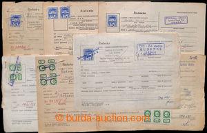 194739 - 1984 ČSR/ ŽELEZNIČNÍ POPLATKOVÉ ZNÁMKY  sestava 8ks dokument