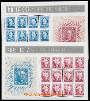 194745 - 1997 Sc.3139-3140, dvojice výstavních aršíků Pacific 97; lux