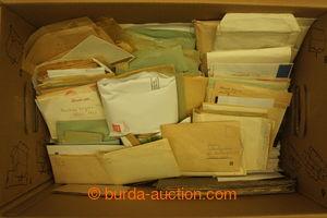 194761 - 1900-1980 [SBÍRKY]  SYPANÉ ZNÁMKY / zaplněná IKEA krabice se