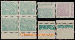 194950 -  Pof.164A, 165A, hodnota 100h zelená a 200h fialová, archové