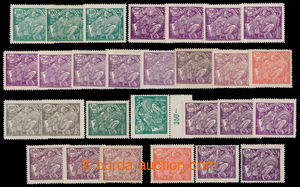 194960 -  Pof.164A-169A, sestava 28ks zn., odstíny barev, mj. 3x zn.