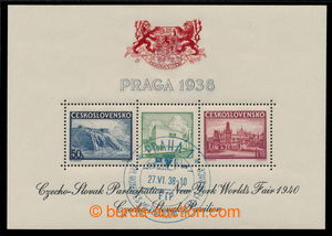 194978 - 1940 Pof.9b, aršík Praga 1938, výstava NY 1940, zelený pavil