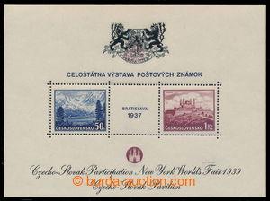 195014 - 1939 AS3a, aršík Bratislava 1937, výstava NY 1939, černý tex