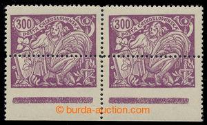 195028 -  Pof.175A, 2-páska hodnoty 300h fialová s dolním okrajem,